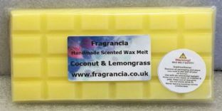 85 gram Highly Scented Wax Melt bar (COCONUT & LEMONGRASS)